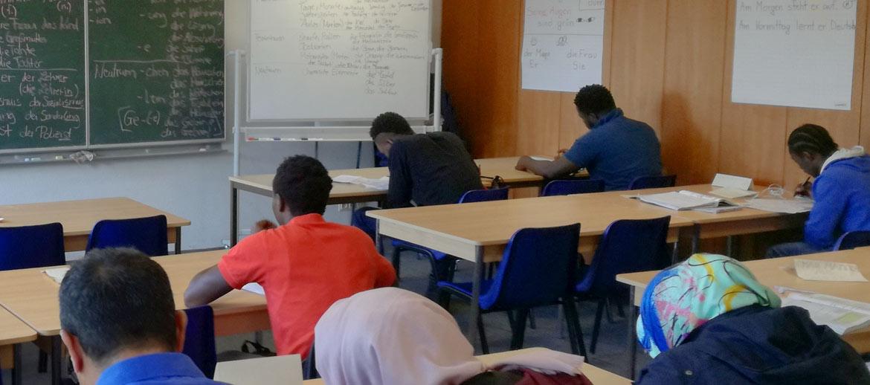 Im Klassenraum einer DaF-Klasse